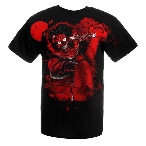Red T-shirt Skull Gun  Local Fanatic  T-shirts